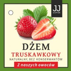dżem truskawkowy etykieta